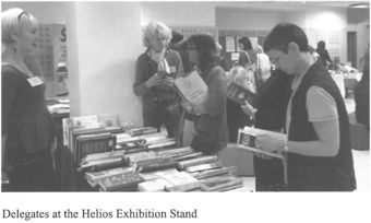 Delegates at the Helios Exhibition Stand