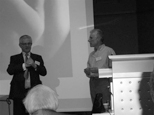 Hans G schrauder with Dr Johnathon Hardy