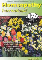 Homeopathy International Spring 2008