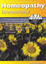 Homeopathy International Summer 2010